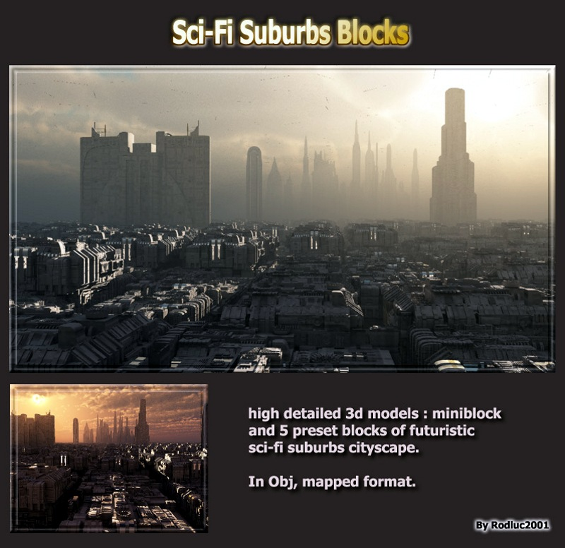 Sci-Fi Suburbs Blocks