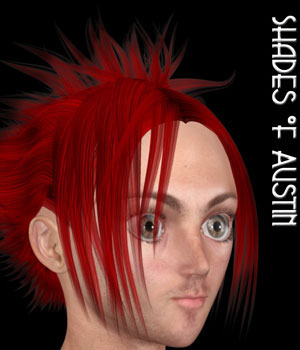 Shades of Austin Hair 3D Figure Assets PureEnergy