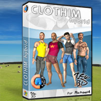 CLOTHIM Hybrid for M4 3D Figure Assets 3D Software : Poser : Daz Studio : iClone zew3d