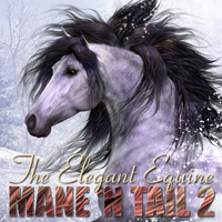 CWRW The Elegant Equine Mane 'N Tail Pack 2 2D 3D Models cwrw