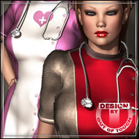 LOVE GAME for V4A4 Nurse Set by billy-t 3D Figure Assets outoftouch