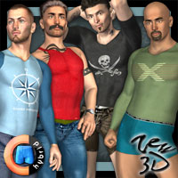 Casuals Pack1 for CLOTHIM Hybrid  zew3d
