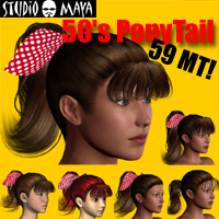 50's Ponytail 3D Figure Essentials MayaX