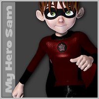 My Hero Sam 3D Figure Essentials 3D Models SilverElf_SE