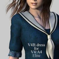 V4B dress for V4A4 3D Figure Assets kobamax