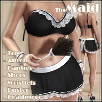 Al3d's Maid for V4/A4/Elite 3D Figure Assets _Al3d_