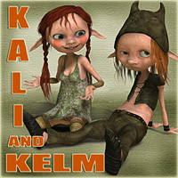 Kali and Kelm Stand Alone Figures Nursoda