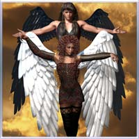 Seraph Wings 3D Models 3D Figure Essentials prae