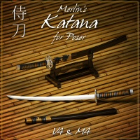 Merlin's Katana 3D Models 3D Figure Essentials Merlin_Studios