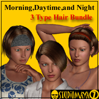 MDN HairBundle 3D Figure Essentials MayaX