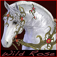 Wild Rose for the Millennium Horse Stand Alone Figures Themed Daio