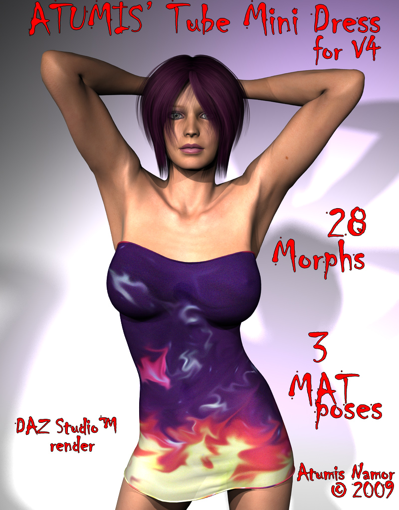Atumis Tube Mini Dress for V4