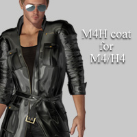 M4H coat for M4H4 3D Figure Assets kobamax