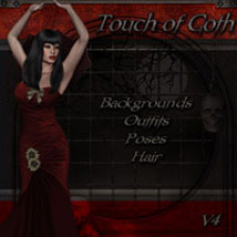 Touch of Goth 3D Figure Assets 2D Graphics 3D Models ilona