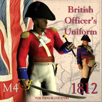 1812 British Officer's Uniform 3D Models 3D Figure Essentials lakota