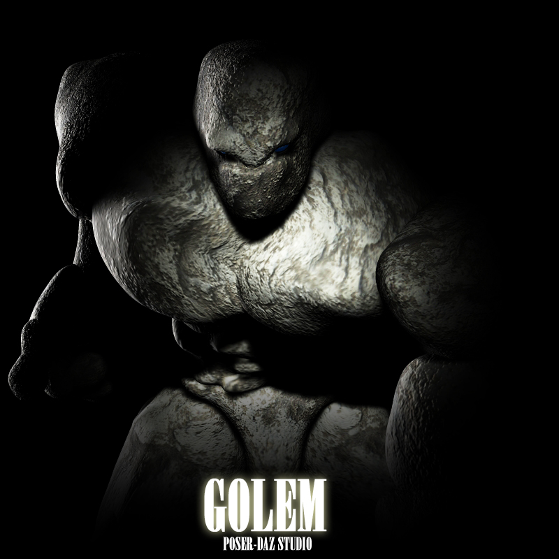 GOLEM for Poser and DAZ Studio by adamthwaites