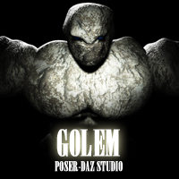 GOLEM for Poser and DAZ Studio by adamthwaites Stand Alone Figures adamthwaites