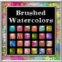 Brushed Watercolors Layer Styles with Free Gift  2D And/Or Merchant Resources Themed fractalartist01