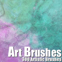 300 Artistic Brushes 3D Models 2D Graphics designfera