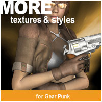 MORE Textures & Styles for Gear Punk 3D Models 3D Figure Assets motif
