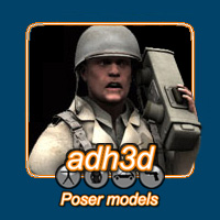 WW2 US GI 3D Models 3D Figure Essentials adh3d
