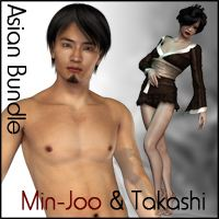Asian Bundle : Takashi & Min-Joo 3D Figure Assets Subgraphick