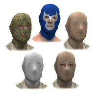 Head Mask for Michael 3 3D Figure Assets 3dCritter