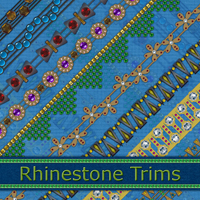 Rhinestone Trims 2D Graphics Atenais