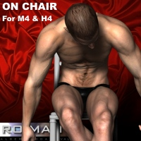 M4 On Chair 3D Figure Essentials RO_MAN