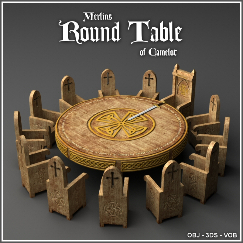 Merlin's Round Table of Camelot by Merlin_Studios