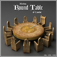 Merlin's Round Table of Camelot 3D Models Merlin_Studios