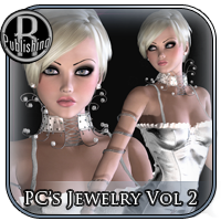 PC's Jewelry 2 V4, A4, G4, GND 3D Figure Assets RPublishing
