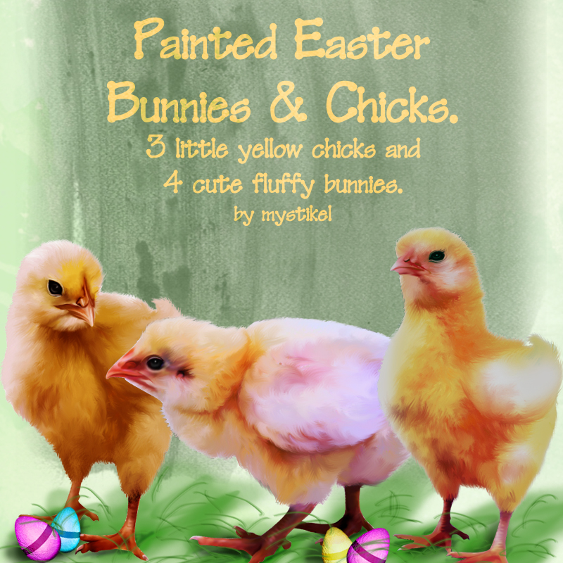 Painted Easter Bunnies and Chicks
