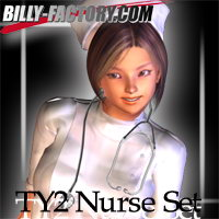 TY2 Nurse Set 3D Figure Assets billy-t