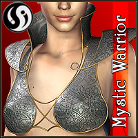 Mystic Warrior V4.2 outfit 3D Figure Assets CJ-studio