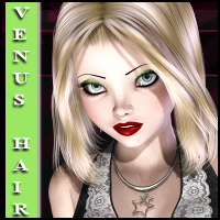 Venus Hair for V4,G4,A4 3D Figure Assets Propschick