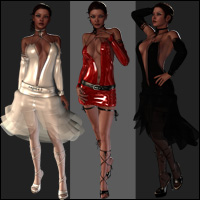 Melissa Clothing Bundle(14 Figure) for Victoria 4.2 + Bonus (63 Camera) 3D Figure Assets jasmina