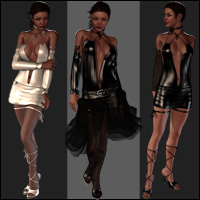 Melissa Dress Set for Victoria 4.2 + Bonus (63 Camera) 3D Figure Assets jasmina