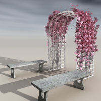 Flowering Trellis  3D Models DreamlandModels