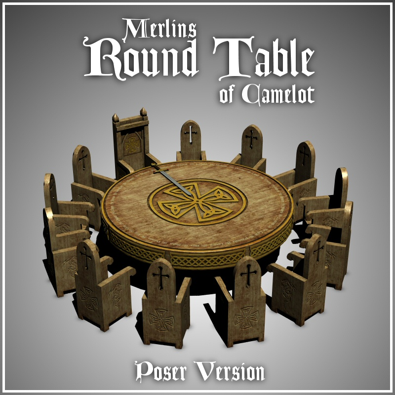 Merlin's Round Table (Poser Version)
