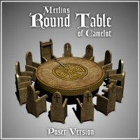 Merlin's Round Table (Poser Version) 3D Models 3D Figure Essentials Merlin_Studios