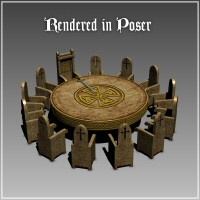 Merlin's Round Table (Poser Version) image 1
