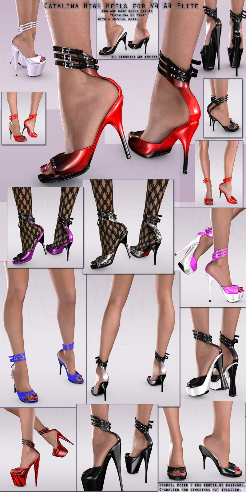 Catalina High Heels for V4_A4_Elite