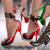 Catalina High Heels for V4_A4_Elite 3D Figure Essentials Arrin