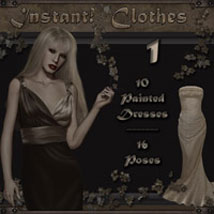 Instant! Clothes 1 3D Figure Essentials 3D Models 2D ilona