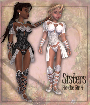 Sisters for G4 by Tipol 3D Figure Assets Tipol