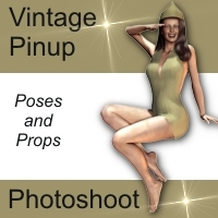 AW_Vintage Pin-up Themed Props/Scenes/Architecture Poses/Expressions awycoff