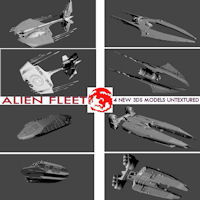 2009 ALIEN FLEET Transportation Themed rj001