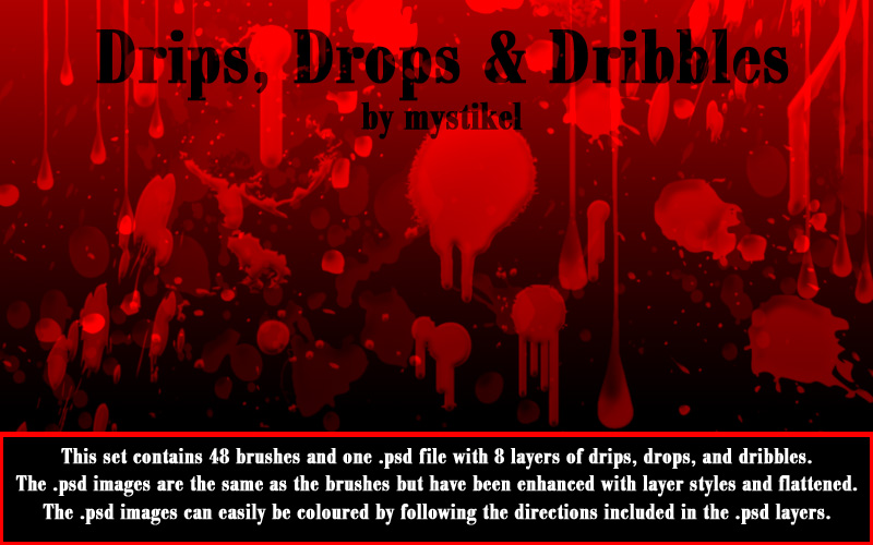 Drips Drops Dribbles brush pack