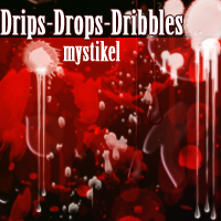 Drips Drops Dribbles brush pack 2D And/Or Merchant Resources Themed mystikel